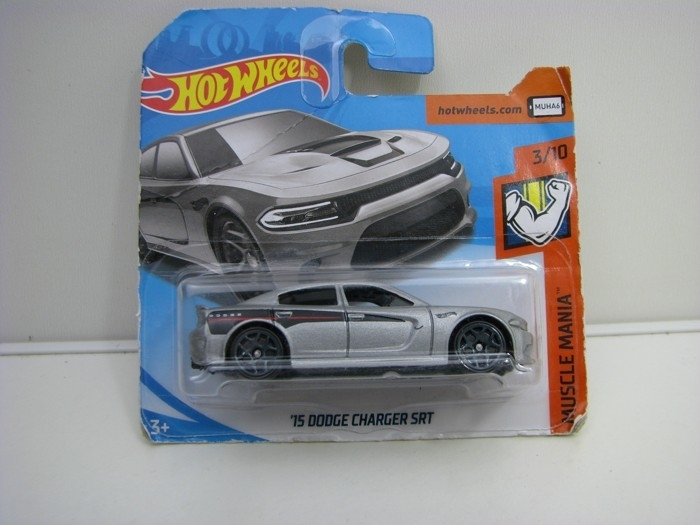 Dodge Charger SRT Silver Hot Wheels Muscle Mania-2018-FJX75